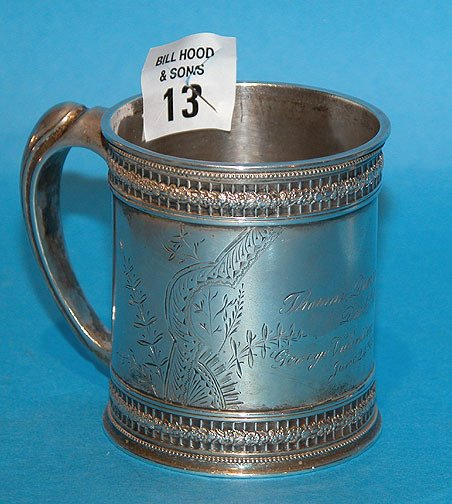 13: Sterling Cup Monogrammed