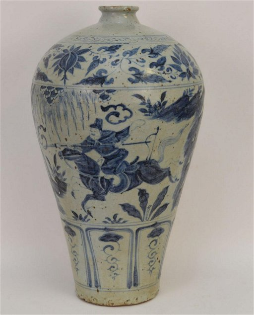 Early Chinese Blue White Porcelain Vase Condition