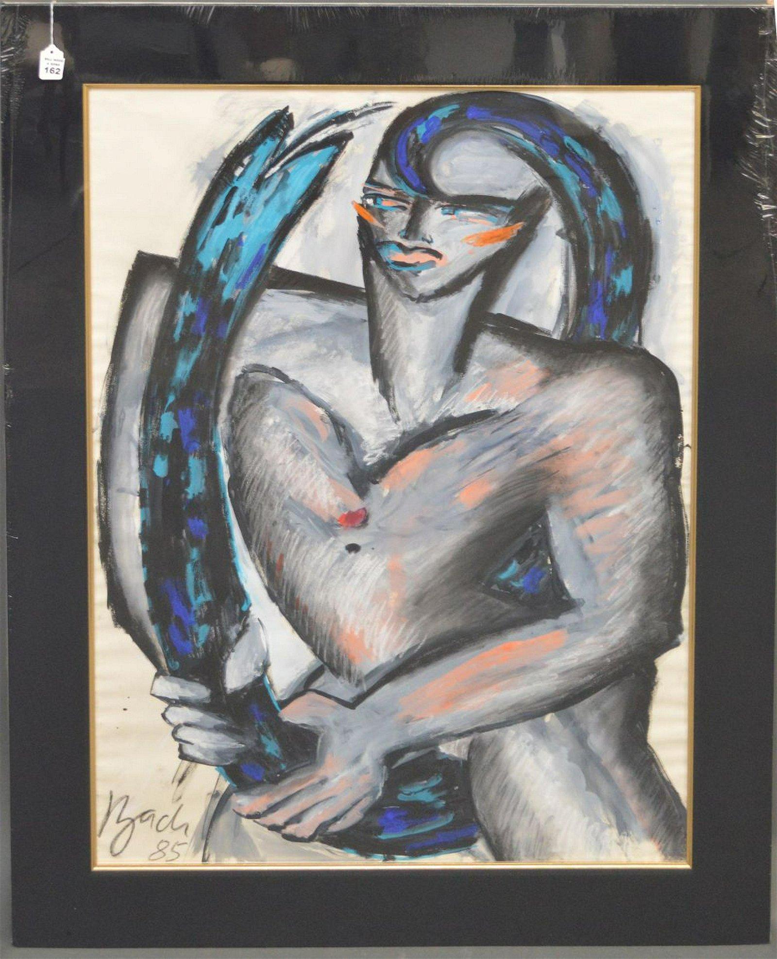 Elvira Bach (German, b. 1951) Original Painting -Mixed