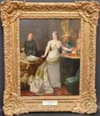 Ernest Gustave Girardot  (France 1840 - 1911) oil on