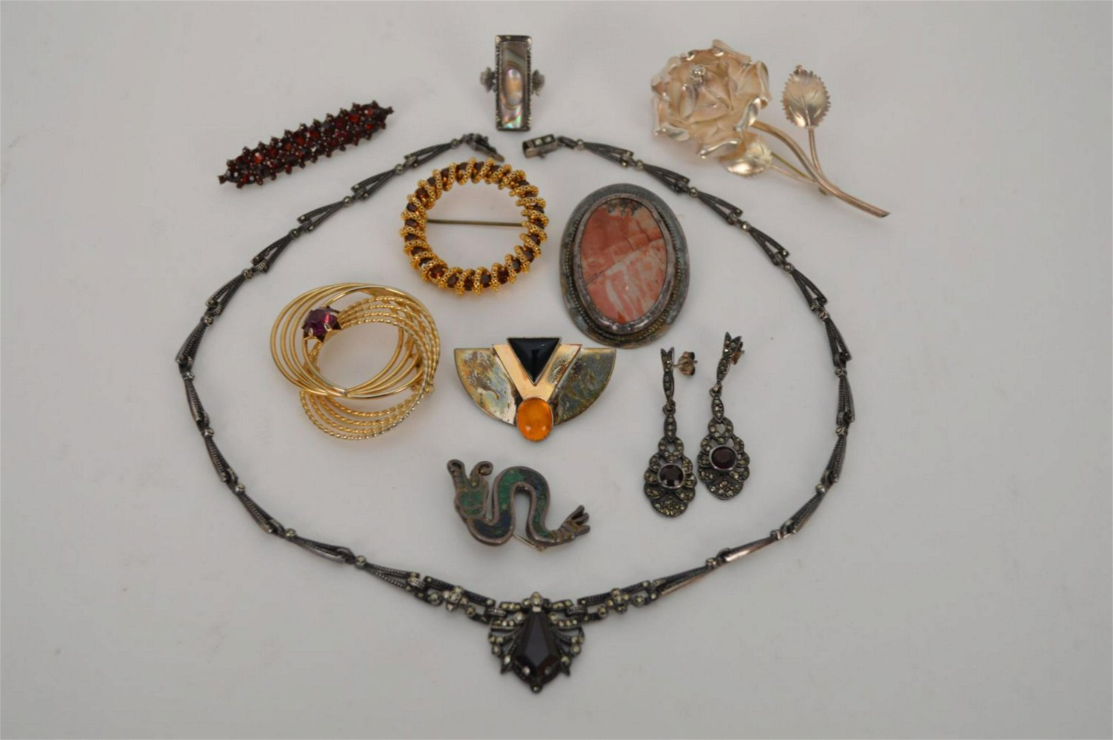 Sterling & Costume Jewelry Lot. Sterling weight 83.5