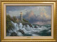 Thomas Kinkade Conquering the Storms Lithograph On