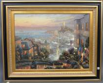 "Thomas Kinkade Lithograph On Canvas ""San Francisco"