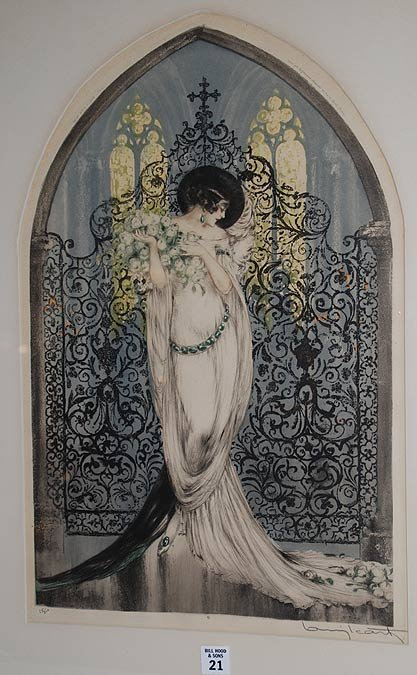 "21: Louis Icart, American 1888-1950, ""Tosca"", original"