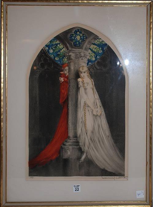 22: Louis Icart, American 1888-1950 Original etching