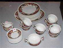 """341: Incomplete set of """" Devonshire"""" by Johnson Bros.,"""