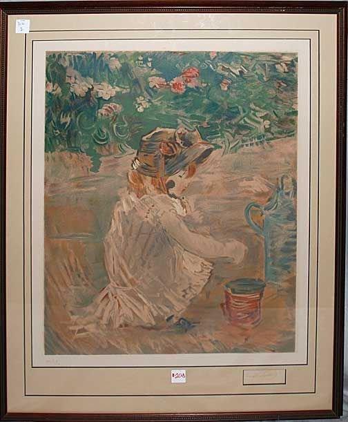 020B: Berthe Morisot, 1841-1895, France, colored lithog
