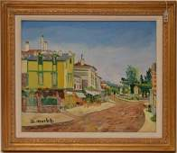 Elisee Maclet (French 1881 - 1962) French Street Scene,