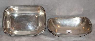 1057 Pair of oblong open sterling silver vegetable dis