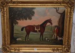 1117 James Read british painting horse with man  dog