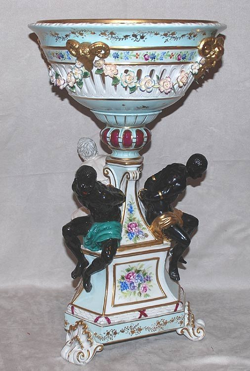 11: Monumental porcelain center piece, focal points are
