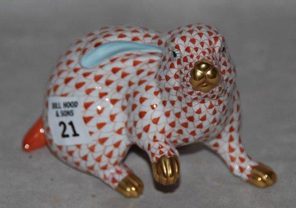 "21: Herend rabbit,  5 1/4L x 4""h"