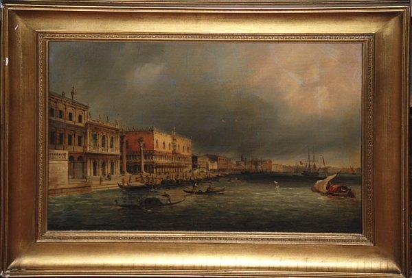 260: Signed lower left, Italian School, 19th cent, oil