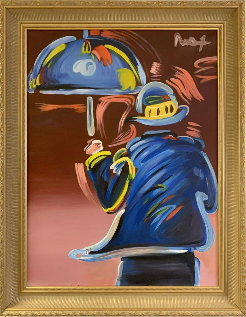 PETER MAX UMBRELLA MAN - ORIGINAL ACRYLIC PAINTING