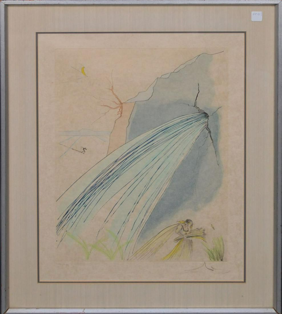 SALVADOR DALI  (Spanish, 1904-1989) color etching, THE