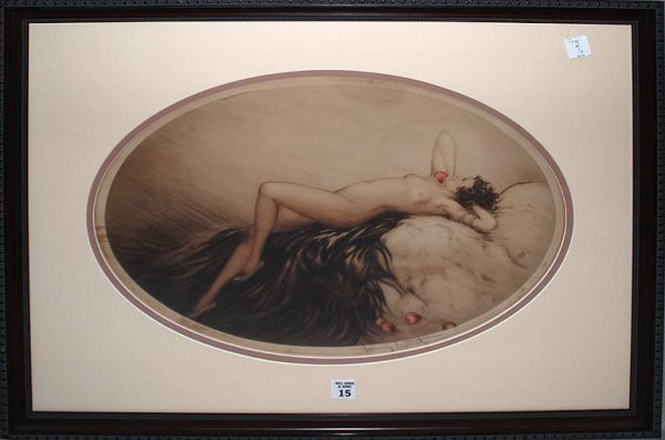2015: Louis Icart, 1888-1950, NYC, pencil signed, litho