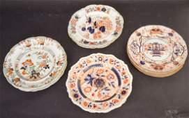 12 assorted 19th c. English Ironstone plates