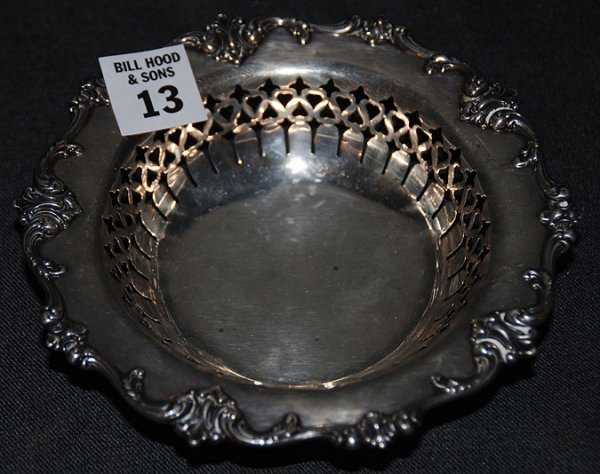 "13: Small Gorham sterling reticulated bowl, 6""w x 1 1/2"