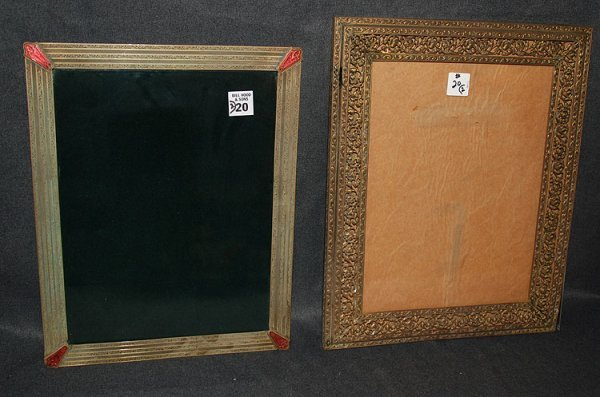 20: 2 dresser mirrors: 1 with reticulated 2 border, 15""