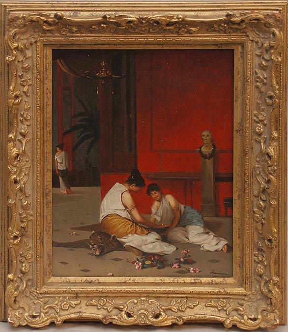 2004: Channon, European School, oil on canvas, 2 ladies