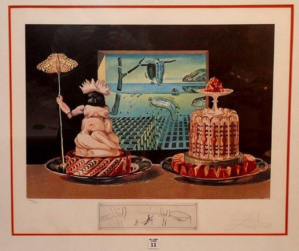 2011: Salvador Dali, 1904-1989, Spain, colored lithogra