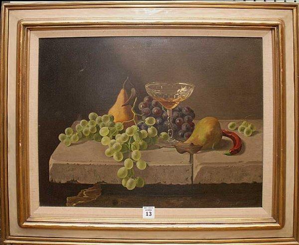 2013: Rossingol, European School, oil on canvas, still