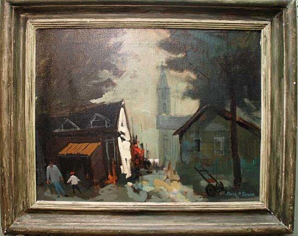 2014: Elmer P. Schwab, European School, oil on canvas,