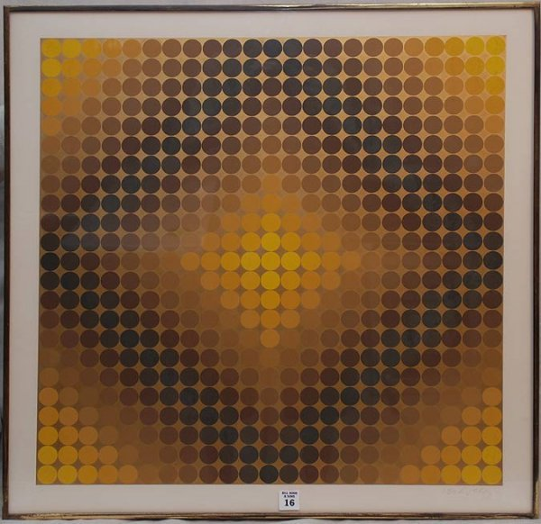 2016: Victor Vasarely, 1908-1997, Hungary/France lithog
