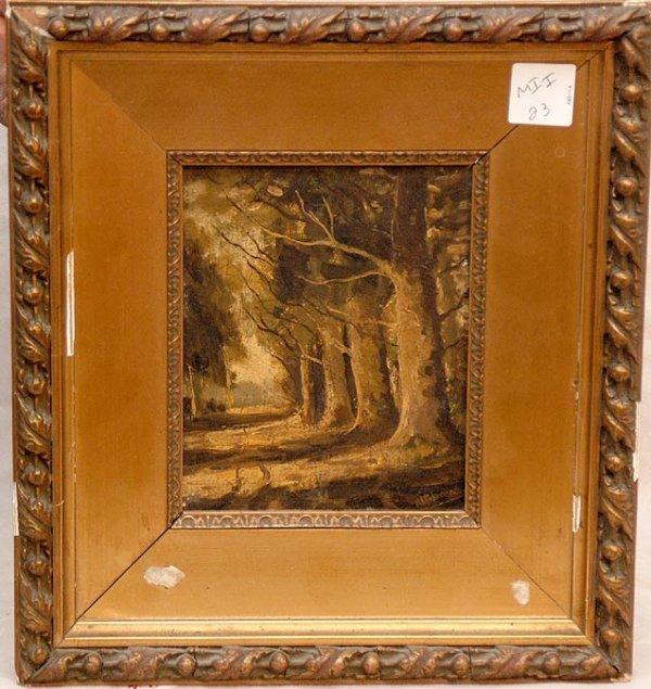 2020: Hendricus Scheeres, 1829-1864, Dutch, oil on pane