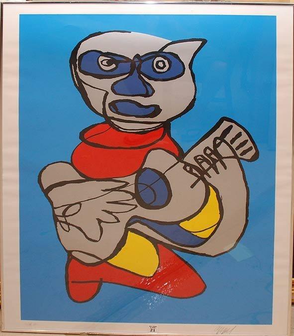 2021: KAREL APPEL ( Dutch 1921-2006) color lithograph