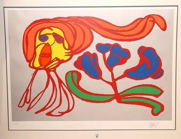 2022: KAREL APPEL ( Dutch 1921-2006) color lithograph