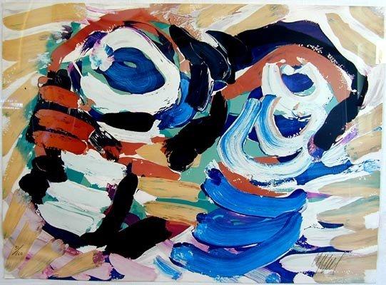 2023: KAREL APPEL (Dutch, 1921-2006) color lithograph,