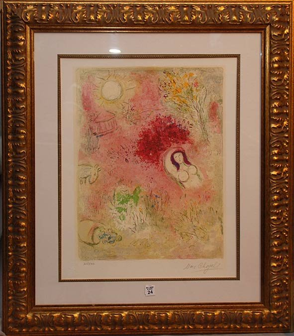 2024: Marc Chagall 1887-1985, Russia/France lithograph,