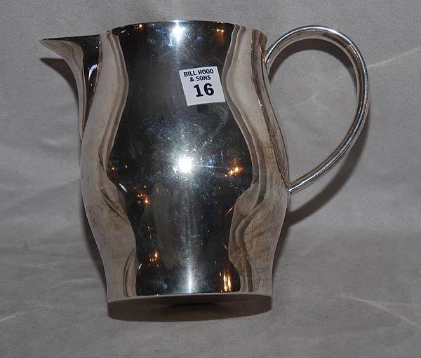 1016: Sterling silver  water pitcher, Georg Jensen, USA