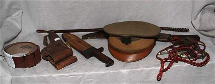 1025 Collection of US Army WWI memorabilia holster