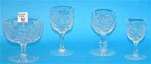 "(35) Cut glass stems, incl: (18) wines, (4) 1/2""h"