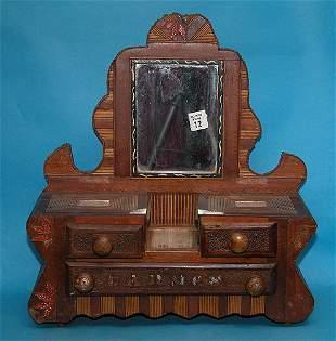 Different folk art miniature dresser, several los