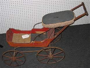 """19th century American """"Joel Ellis"""" type wood doll"""