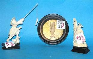 (3) pieces of ivory, incl: (2) ivory fishermen an