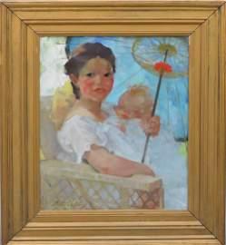 Martha Walter (American, 1875�1976) oil on canvas,