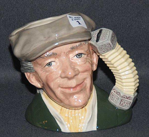 "1: Royal Doulton Toby/character jug ""The Busker"" D6775,"
