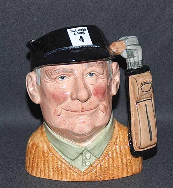"""4: Royal Doulton Toby/character jug """"Golfer"""" D6623, 7 1"""