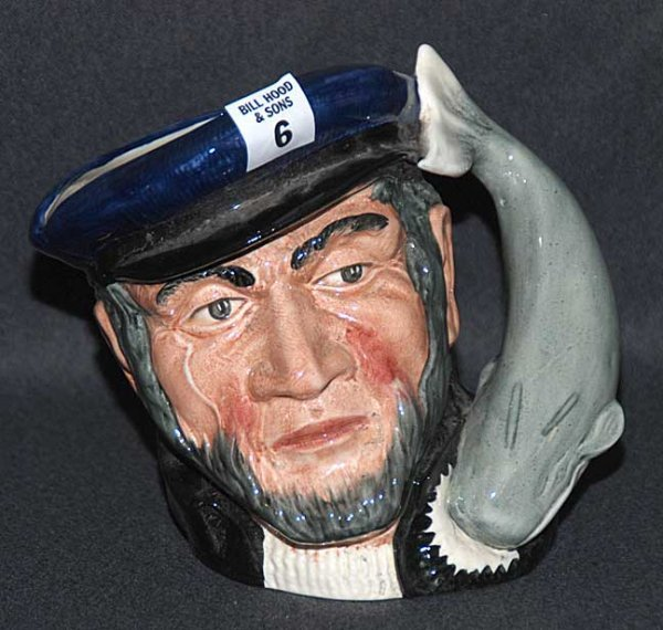 "6: Royal Doulton Toby/character jug ""Capt. Ahab"" D6500,"