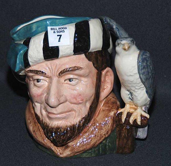 """7: Royal Doulton Toby/character jug """"The Falconer"""" D653"""