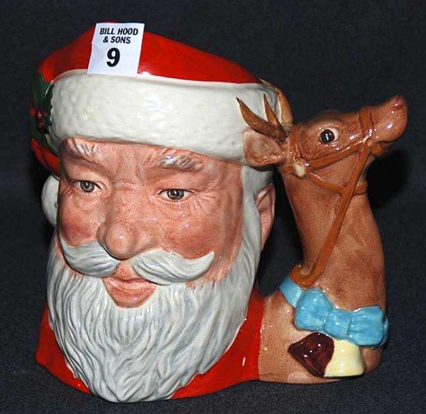 """9: Royal Doulton Toby/character jug """"Santa Claus"""" D6675"""