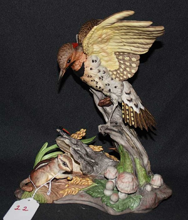 "22: Boehm limited edition porcelain bird, ""Yellow Shaft"
