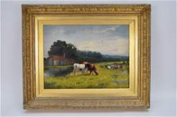 19th Century Continental School oil on canvas River