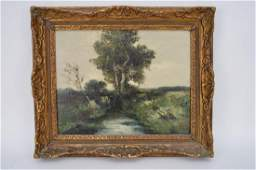 19th Century Dutch School oil on canvas Landscape by