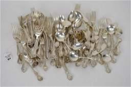 Wallace Sterling Silver Flatware Set, Marked Bailey,