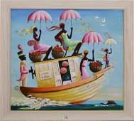 After Bulman , oil on canvas, Chambre Joe Machines -